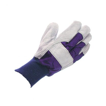 Mens Ford Pattern Cotton Chrome Glove with Knuckle Strap