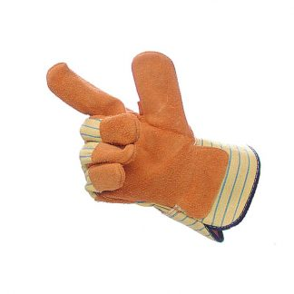 Mens Yellow Canadian Stripe Superior Rigger Gloves