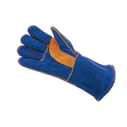 Mens Blue Lined Category II Reinforced Welders Style Gauntlets