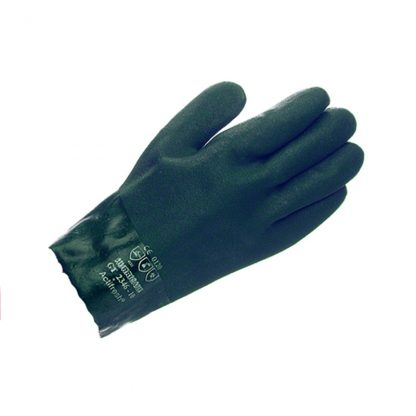 """Green Dipped 10.5"""" Category III PVC Gauntlet"""