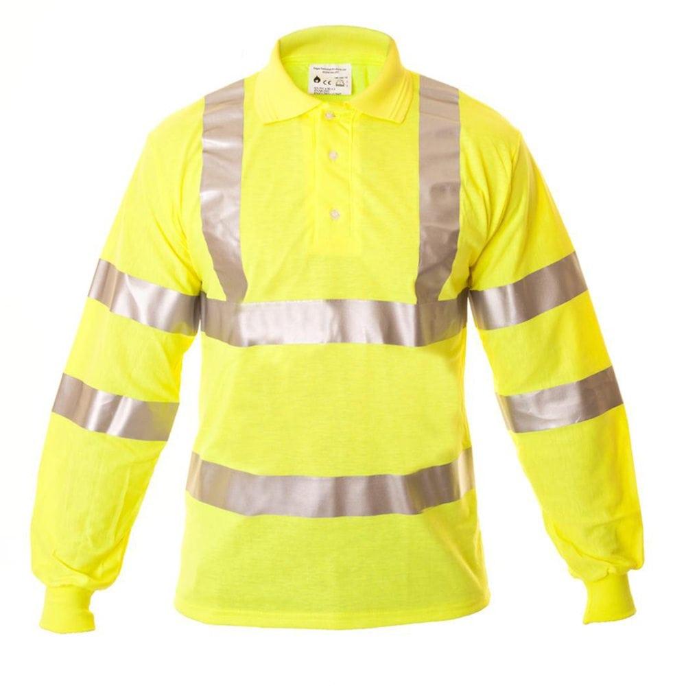bcd9cbb9da4d Eagle FR Hi Vis Antistatic Flame Retardant Polo Shirt
